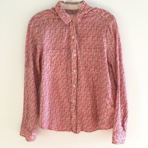 Anthropologie Holding Horses Floral Shirt size 8